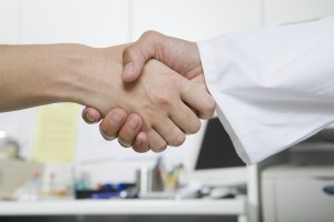Handshake with Doctor