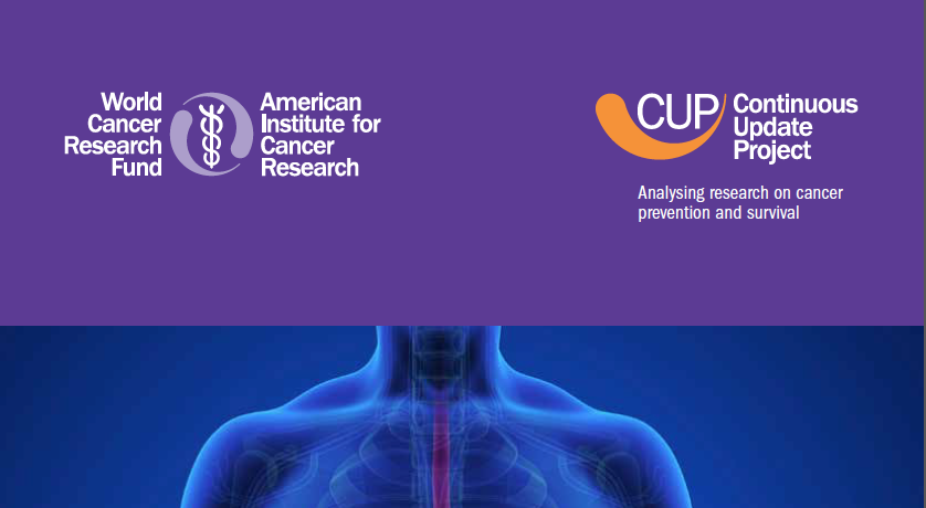Latest CUP report on esophageal cancer, digging deeper