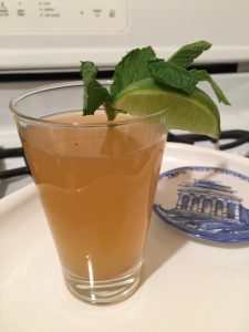 Green Tea Cooler with Mint