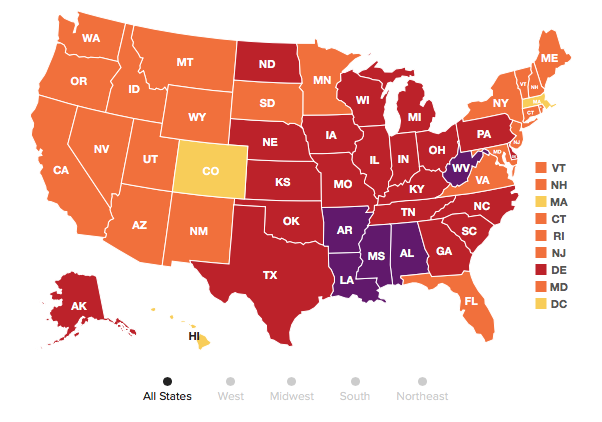 New state rankings for adult obesity leveling but still high, placing many at increased cancer risk