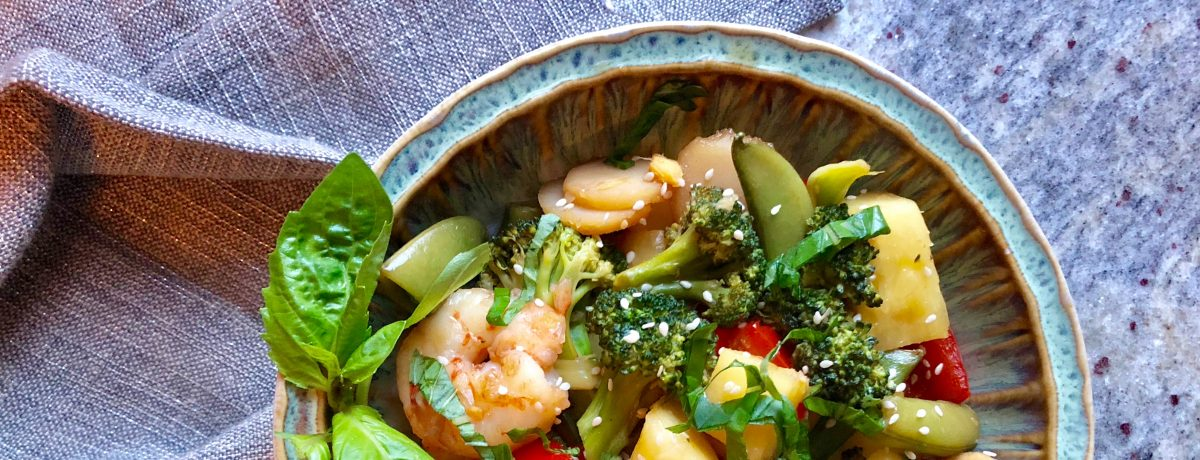 Summer Shrimp and Pineapple Stir-Fry