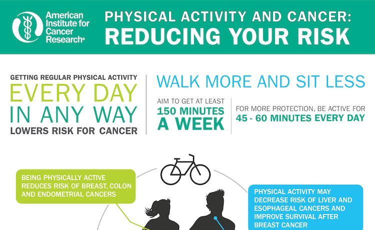 Move More and Sit Less for Cancer Prevention and Survival, say New HHS Guidelines